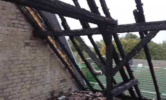 Brandschaden Dach Sanierung